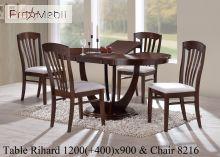 Обеденный комплект Rihard & 8216 орех Onder Mebli