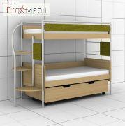 Двухъярусная кровать DJ-L-03 90 c ящиком Эдисан