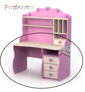 Письменный стол Pn-08-2 Pink Briz