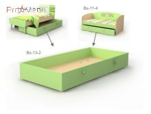Выдвижная кровать ниша Bs-13-2 Active Briz