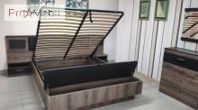 Кровать с мягким изголовьем и подъемным механизмом 160 Jagger Mebel Bos