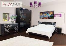 Кровать 2-сп черная Фелиция Новая Світ Меблів