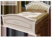 Кровать 2-сп 1,6 c мягким изголовьем Николь Світ Меблів
