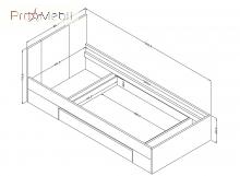 Кровать 90 33 Mono M Helvetia